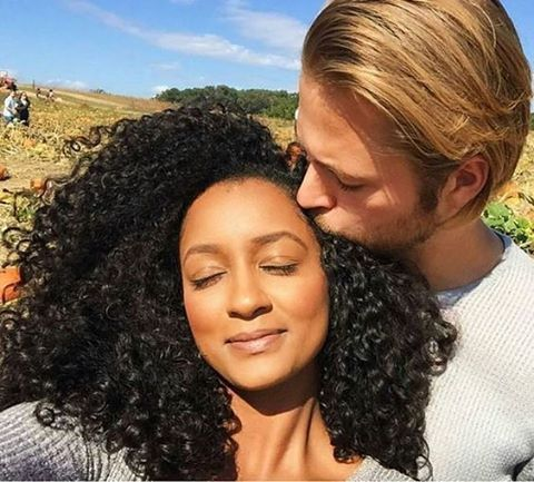 Gorgeous interracial couple that exudes sweet romance #love #wmbw #bwwm #swirl