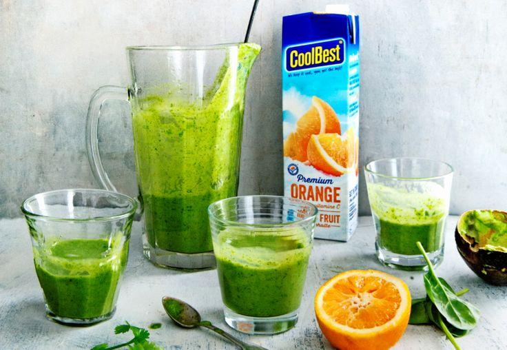 spinazie-sinaasappelsmoothie met verse gember - delicious. magazine