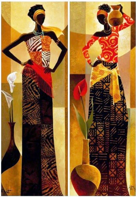 Dibujos Étnicos Africanos Cuadros | Bodegones y Paisajes Cuadros ...