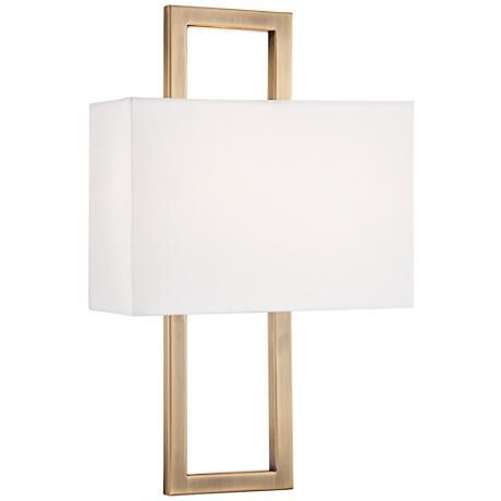 Possini Euro French Brass 15 1 2 Quot H Rectangular Wall Sconce
