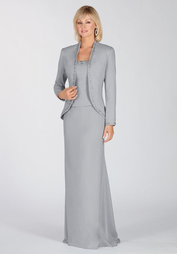 best mother of the bride dresses fall 2014   bride > Chiffon and Satin Square A-line Long Mother Of The Bride Dress ...