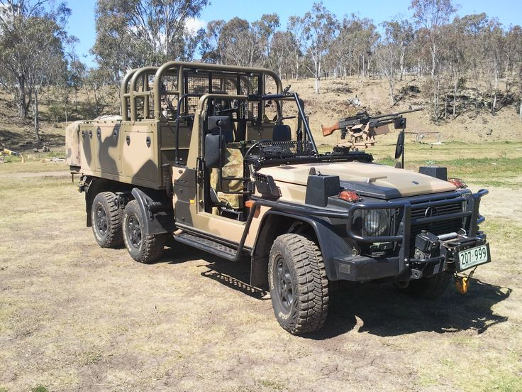 Australian Army uses several forms of the Mercedes Benz G Wagon.