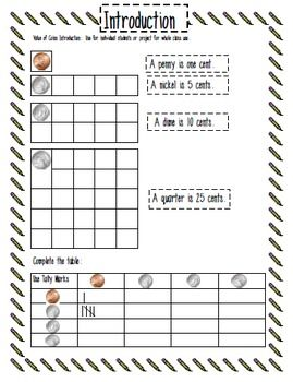 My K students can add mult. coin values using the coin grids.  Wow!  Value of Coins with Counting Coin Grids - Carol Redmond - TeachersPayTeachers.com
