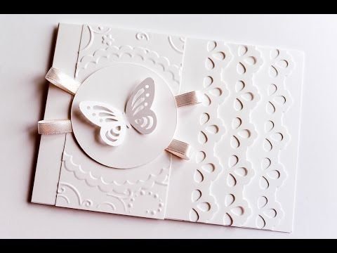 (2) How to Make - Wedding First Communion Greeting Card - Step by Step   Kartka Ślubna Komunijna - YouTube
