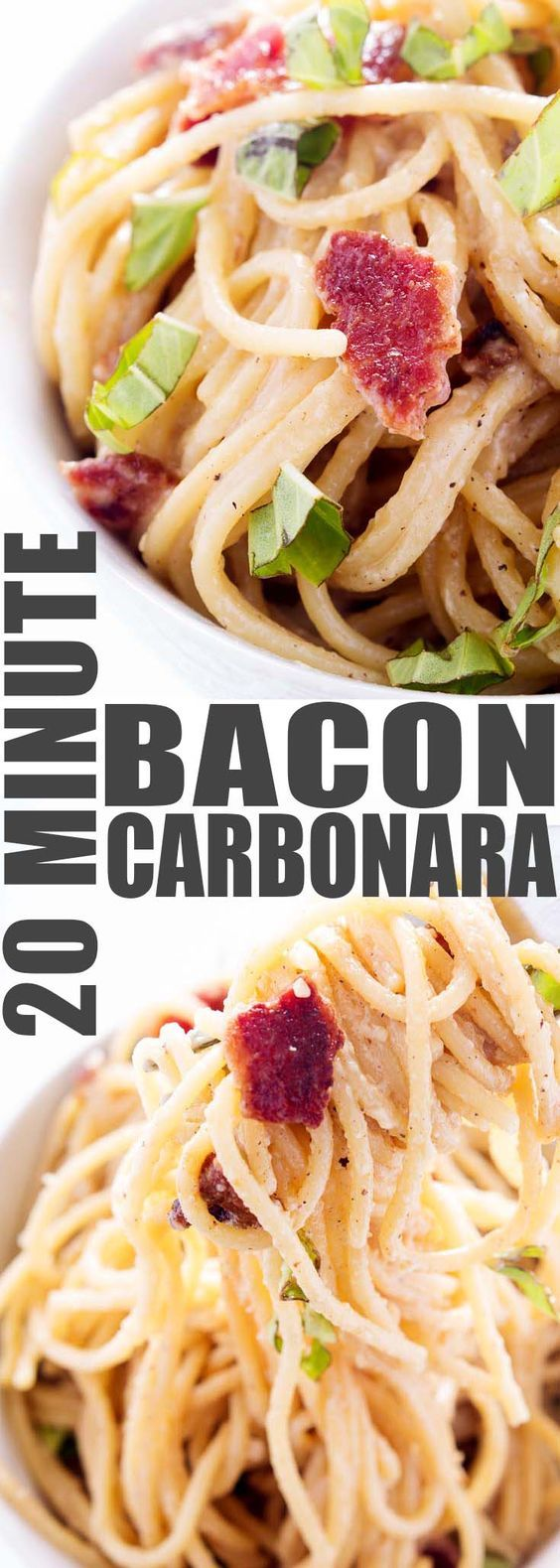 Love Bacon? Looking for a higher protein pasta sauce? Need a quick dinner with minimal cleanup? This Bacon Carbonara is just what you're looking for! Ready in 20 minutes or less, cooked entirely in just one skillet.