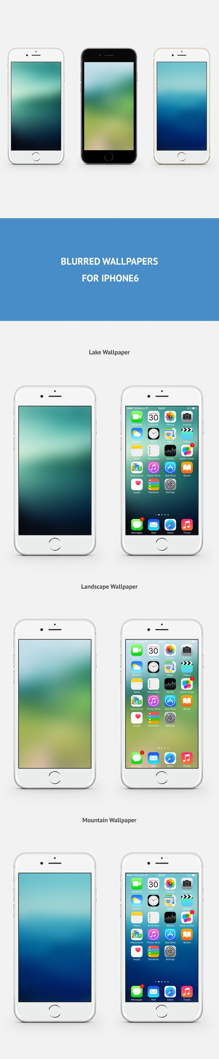 Free Blurred Wallpapers for iPhone6