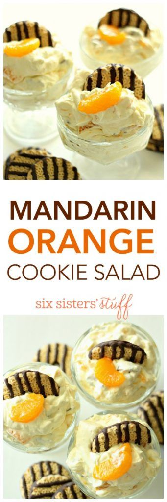 Mandarin Orange Cookie Salad from SixSistersStuff.com - pinned over 100k times!