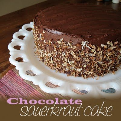 So you're either thinking I've lost my mind and this must be gross, or your intrigued beyond belief and want to know what a chocolate cake with sauerkraut tastes like. Well, my friends, it's delicious! Weird, I know!