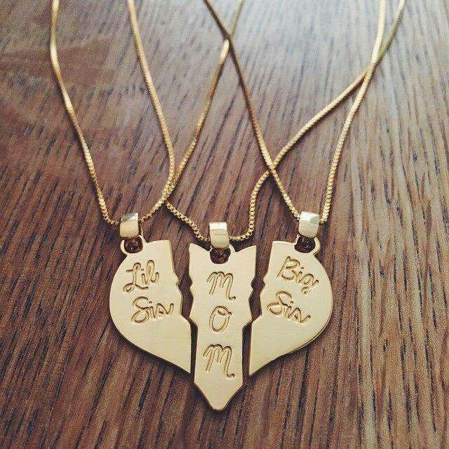 Necklace mom girls sisters. Mom, Holly and I need this!