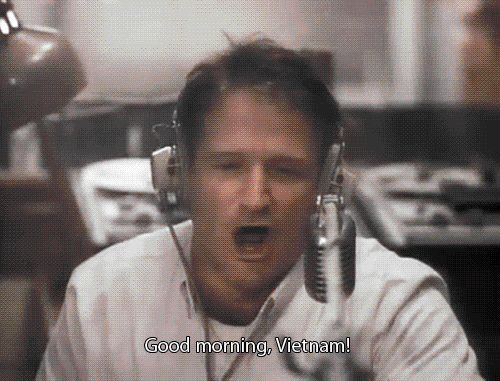 In his Oscar-nominated role for Good Morning, Vietnam, Williams' dialogue behind the microphone was entirely improvised. | 12 Lengths That Robin Williams Has Gone To Make Us Laugh