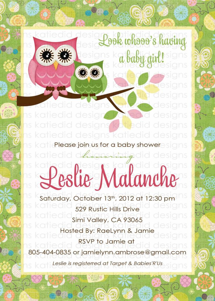 owl baby shower invitation owl first birthday by katiedidesigns
