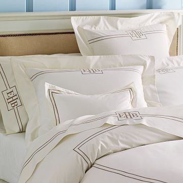 Ivory Hotel Bedding Duvet Cover - traditional - duvet covers - Williams-Sonoma Home