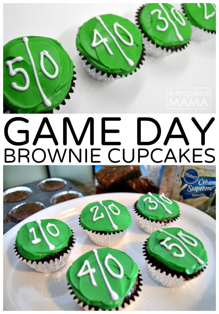 Easy Game Day Brownie Cupcakes - Our New Football Game Watching Family Tradition - Perfect Idea for a Super Bowl Party, Too!  Sponsored by the J.M. Smucker Company #MixUpAMoment