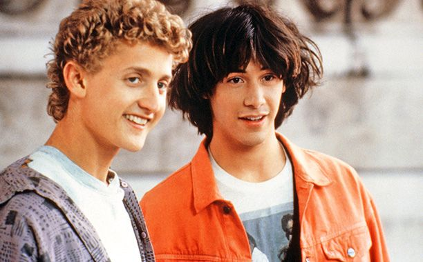 Alex Winter & Keanu - Bill & Ted's Excellent Adventure