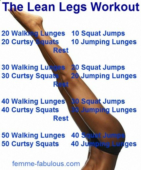 The Lean Legs Workout... Yea right. Maybe someday. .