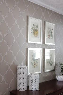 stenciled wallpaper