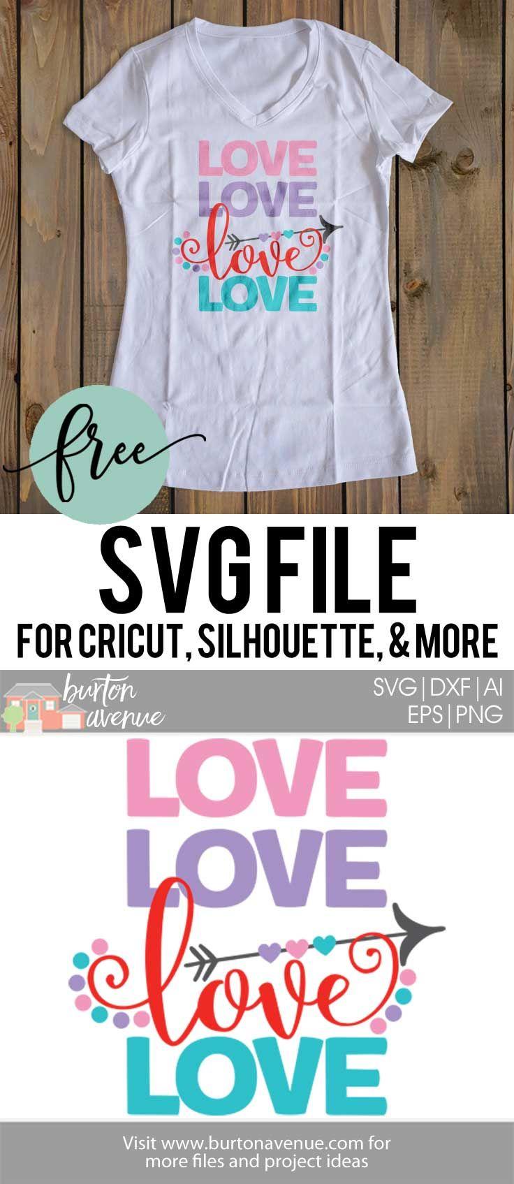 Flash Freebie} - Free SVG Cut File - Love Love Love Love