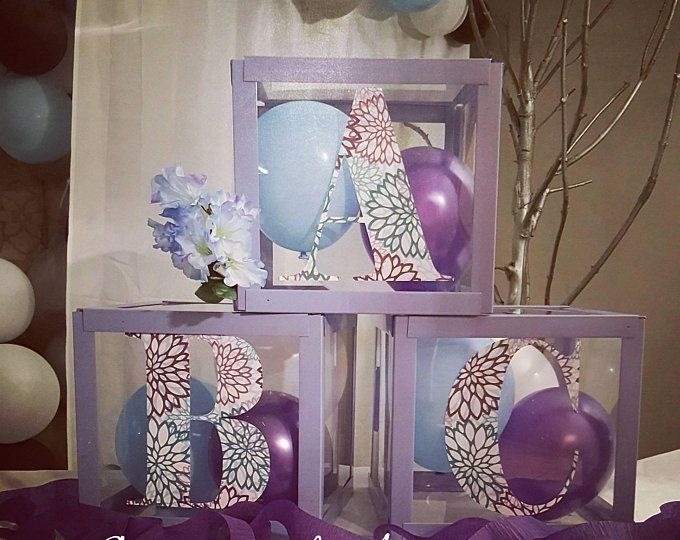 Large Clear Baby Blocks Decoration Custom Letter Boxes For Etsy Baby Blocks Baby Shower Centerpieces Baby Shower Parties