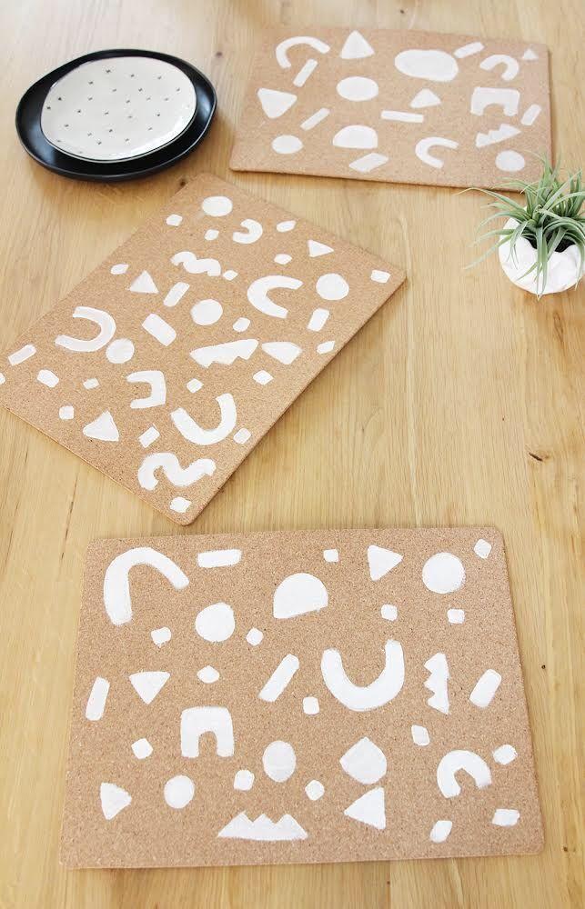 Ikea Hack Diy Placemats Blissmakes Diy Placemats Cork Diy