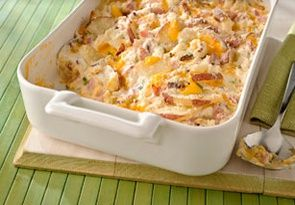Scalloped Potatoes & Ham-This is BOTH a Weight Watchers 5 PointsPlus+ AND a Healthy Low Calorie Diabetic recipe.