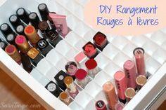 DIY : rangement rouges à lèvre