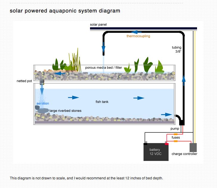 solar aquaponics diagram.