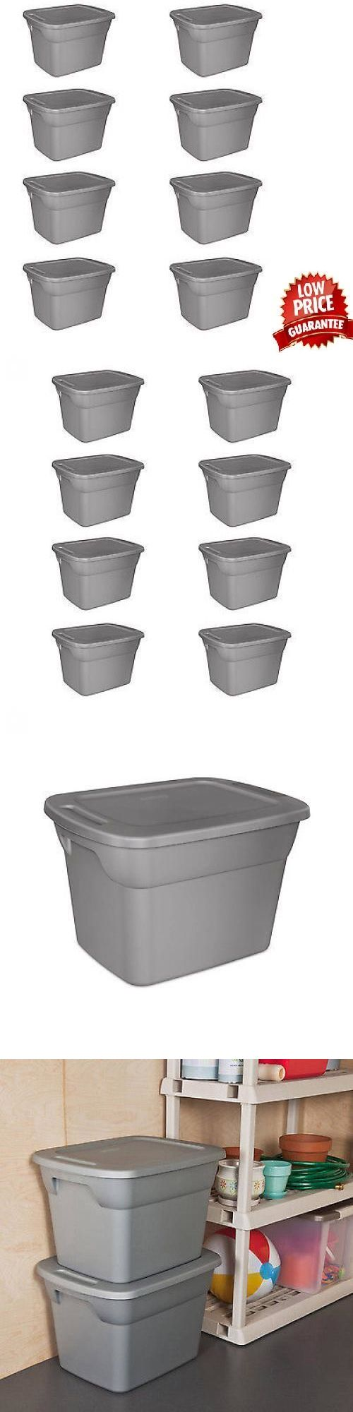 Storage Boxes 159897: 8 Plastic Storage Containers Box Sterilite 18-Gallon Stackable Bin Tote Lid Set -> BUY IT NOW ONLY: $47.45 on eBay!