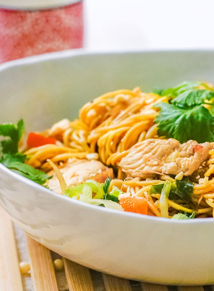 Thaise wok met kalkoen en ketjap-sesamsaus