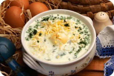 Sóskaleves reszelt tojással recept fotója