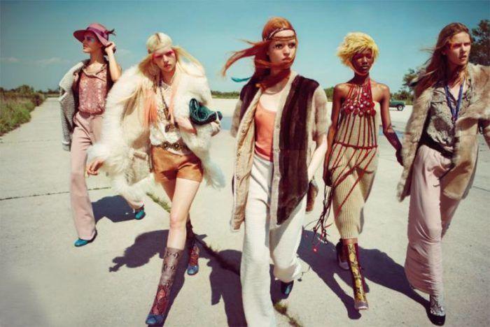 Стиль хиппи в одежде: 100 фото