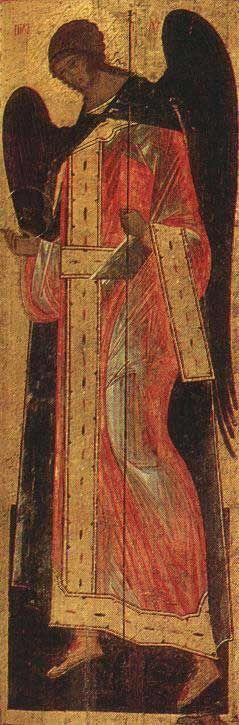 Деисусный чин. Архангел Гавриил. Конец XV - начало XVI в.