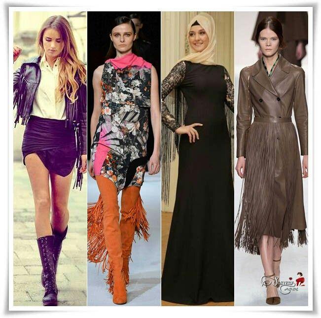 16. ve 17. yüzyılda; Kıyafetlerde Püsküller varlık ve gücü temsil ediyordu. Şimdilerde ise moda da  trendlerin başında yer alıyor.  Püsküllü parçalar, kendiliğinden gösterişli parçalar oldukları için onları     kombinlerken oldukça sade olmalıyız.Bizde sosyetikcadde.com olarak sizlere     Püskül'lü Kıyafetler Nasıl Kombinlenir  sokak modasından derlediğimiz galeri hazırladık.⤵ http://www.sosyetikcadde.com/bohem-ruhunu-yansitan-puskul-modasi/
