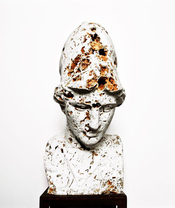 """""""Untitled"""" #0005 2015   Massimiliano Pelletti - Scultura in pietra grezza  Altezza: 40 x 50 x 70 cm"""