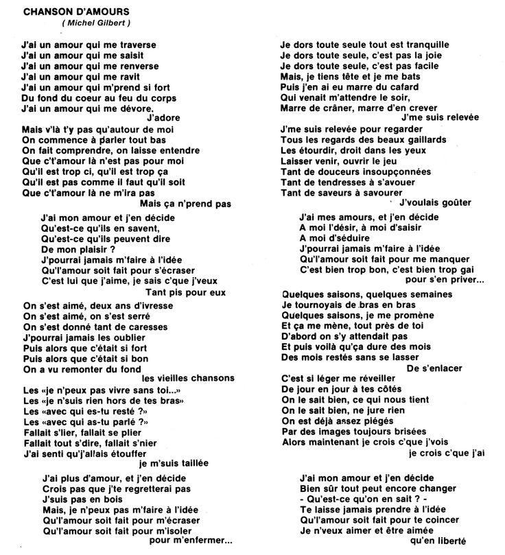 21 best images about parole de chansons fran 231 aises on