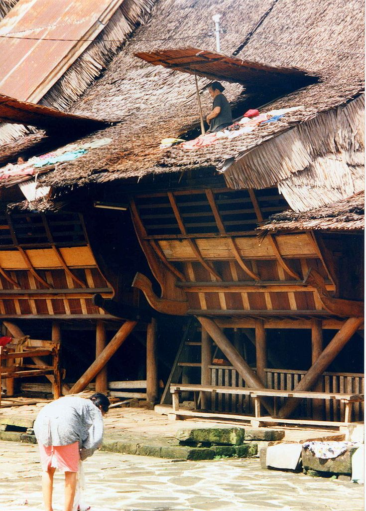 Traditional house, Nias Island, Sumatra, Indonesia