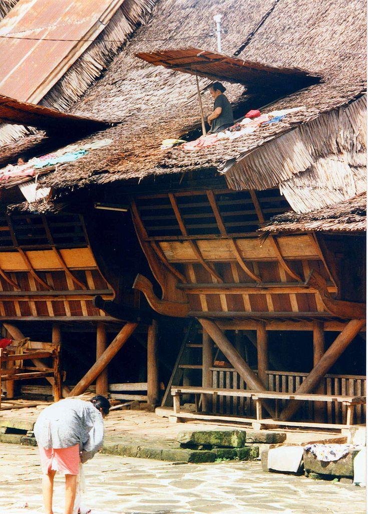 Traditional house, Nias Island, Sumatra, Indonesia