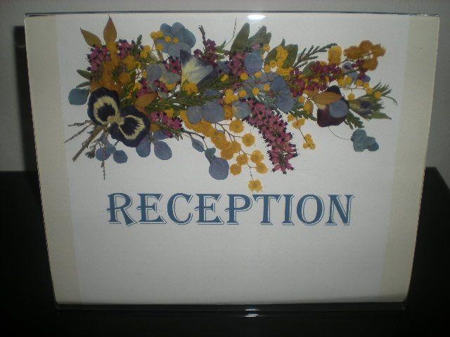 composizione di fiori pressati, per scrivania