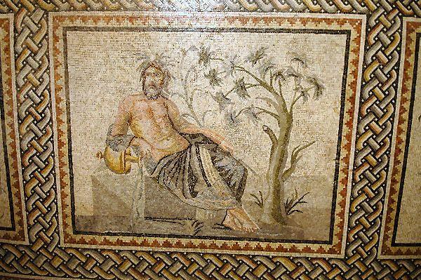 Zeugma mosaic depicting Euphrates