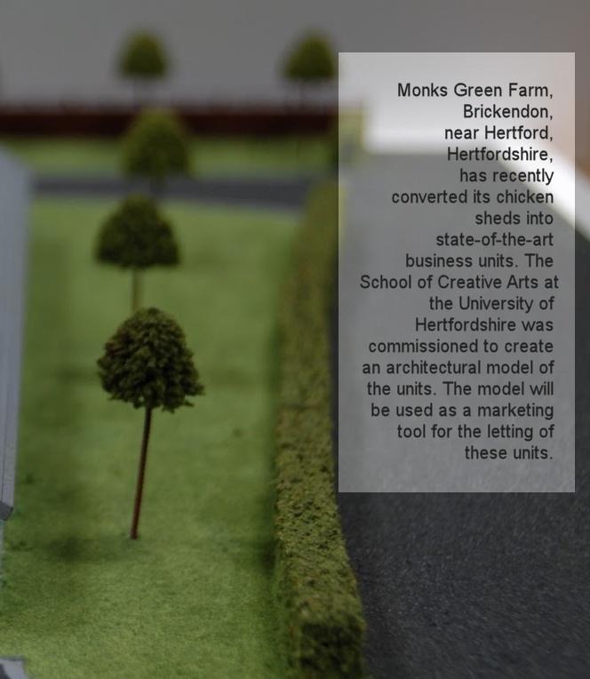 Monks Green Farm Brickendon Interior Architecture And Design Student Model Project By Paulius Gedrimas
