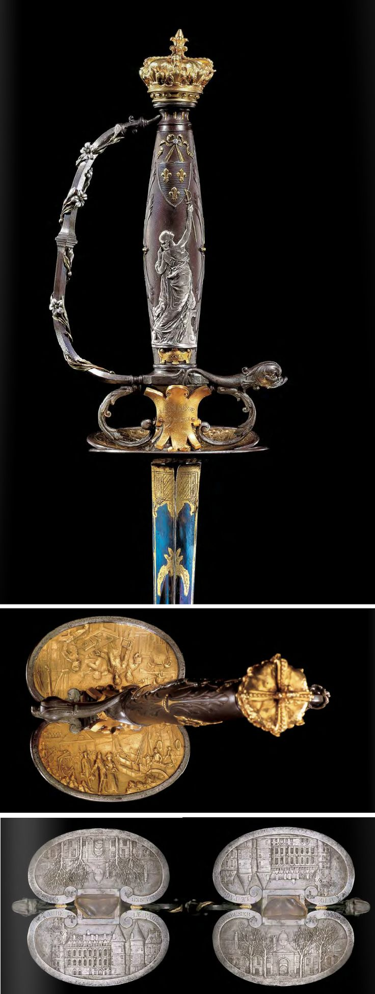 The exquisite and unique gold-mounted small-sword presented by La Jeunesse Francaise to Monsieur le duc d'Orleans claimant to the throne of France ca. 1895. (PF #50 2005)