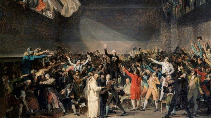 Жак-Луи Давид. Клятва в зале для игры в мяч. Эскиз. 1791 г.
