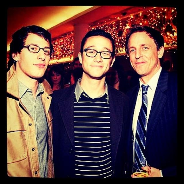 Andy Samberg - Joseph Gordon Lewitt - Seth Meyers-Imagine the conversation between these guys!