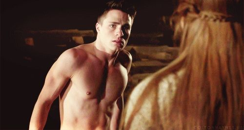 """Which is a shame, because look at him.   Community Post: 41 GIFs Of The """"Teen Wolf"""" Men To Make You Drool"""