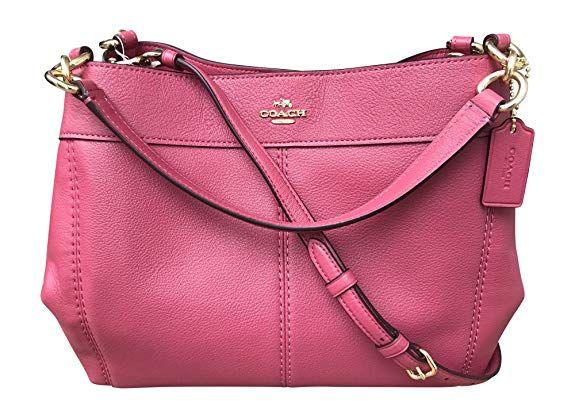 1cf2fd81387b Coach Pebbled Leather Small Lexy Shoulder Bag Handbag (Rouge) pink ...