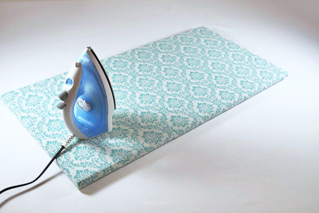 DIY tutorial on how to make a tabletop ironing board (great for the craft room)