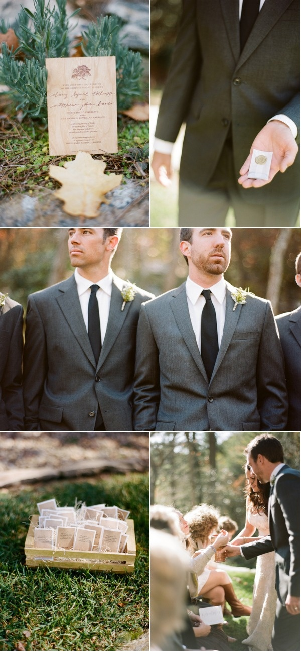 # 11 Serve Communion #wedding  See, charcoal gray looks hot!