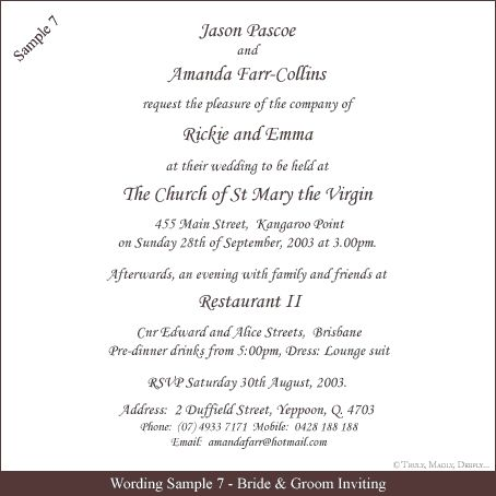 25+ best ideas about wedding invitation wording samples on, Wedding invitations