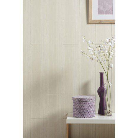 Lambris MDF revêtu chêne blanc ARTENS, L.260 x l.19 cm, Ep.8 mm