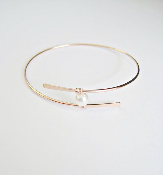 Hey, I found this really awesome Etsy listing at https://www.etsy.com/listing/188147659/rose-gold-pearl-bangle-bracelet