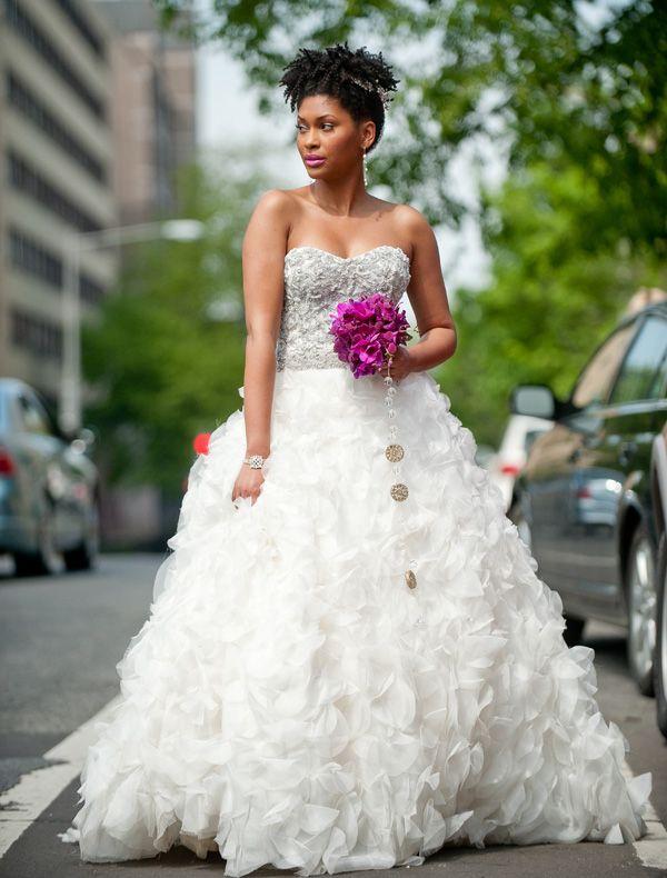 Full, feathery dress